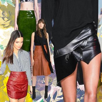 Must have года: кожаные юбки