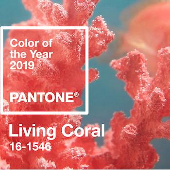 Живые кораллы: цвет 2019 года от Pantone