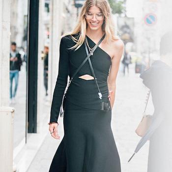 Как носить одежду черного цвета этим летом?