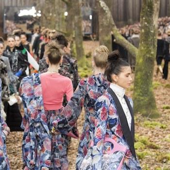 Неделя моды в Париже: осенний лес Chanel