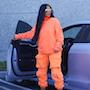 Ким Кардашьян в рекламе Yeezy впечатлила необъятными формами в облегающих нарядах. Фото